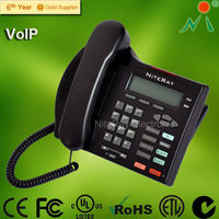2 Corded VoIP IP phone with 2 lines to support 3 party conference