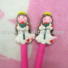 Polymer clay cute and beautiful ball pen