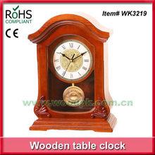Pendulum mantel desktop clocks analog clock with timber