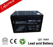 hot 12v 14ah ups rechargeable sealed battery
