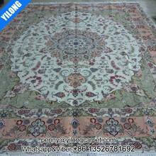 8x10ft Persian design carpet hand made wool flowers rug
