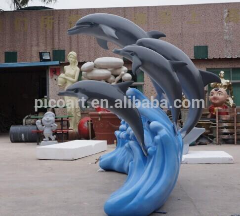grande belle dauphins animaux statue pour jardin d coration. Black Bedroom Furniture Sets. Home Design Ideas