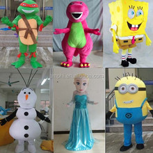 hot spongebob minion olaf elsa costume cartoon mascot costumes