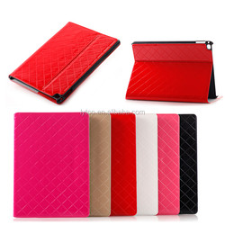 Bright Skin Grid Texture Horizontal Flip Leather Case with Holder Card Slots Wallet for iPad Pro Tablet Cover