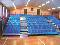Retractable grandstand system auditorium seating for threater