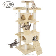 Wholesale Deluxe Cat Tree Furniture Sisal Scratching Post Pet House Play Toy Cat Condo