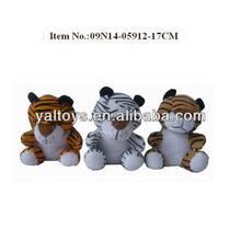 peluche animales salvajes/sentado tigre juguetes de peluche por mayor