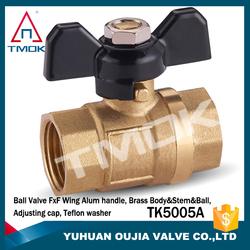 Factory Stock Brass Ball Valve Pipe Nipple With Mini Ball Insert Brass Ball Valve Size 1/2