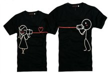 fashion couples brand t shirts for boy and girl wearing