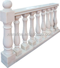white marble polished balustrading stone for stais,porch indoor and outdoor