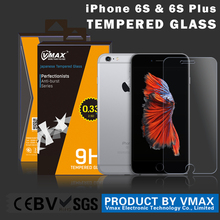 2015 New coming !! 0.2mm 9H Vmax Tempered glass screen protector for iPhone 6s / iPhone 6s plus screen protector OEM ODM