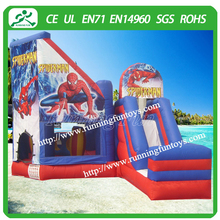 Commercial spiderman inflatable bouncer slide