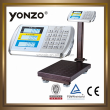 300kg 40*50cm stainless steel indicator and key striking digital LCD display electronic platform weighting scale digital