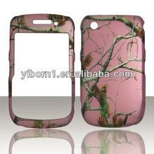 Pink Camo Real Tree 2D Design Snap On Hard Case for Blackberry Curve 8520 8530 9300