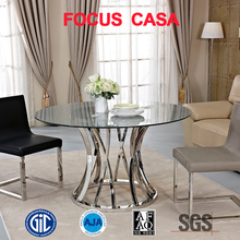 stainless steel restaurant dining table and chair sets made in dongguan
