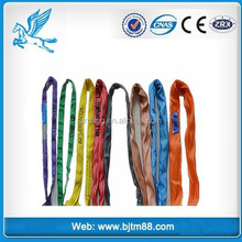 polyester webbing sling with fittings;flat polyester slings;polyester flat woven webbing sling
