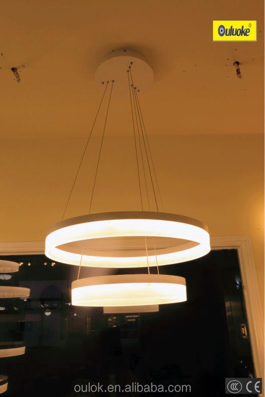 HOT sale new led modern ring pendant light fixture,hanging dining room acrylic pendant light for hotel