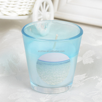 Ocean Color Fashionable Paraffin wax Scented Candle