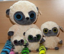 beautiful OEM Luxury Animal Toys Lemur Big Eyed Stuffed Plush lemur wild animal