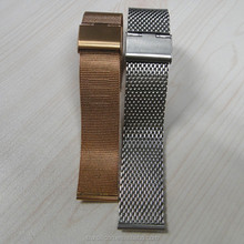 High-quality flexible stock mesh stainless steel watch bands 18mm 20mm 22mm 24mm wholesale