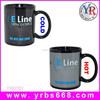 Fist shpe handle white black blank coffee promotion mug ceramic