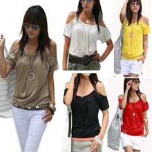 Walson Sexy Women's Girl Japan Style Hollow Shoulder sexy neck design of blouse Tops instyles004118