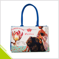 Custom Made Canvas Fabric Sublimation Printed Tote Bag for Woman