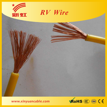 RV copper conductor pvc insulated earth cable wire