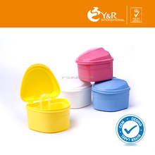 2015 Good quality plastic denture bath container with basket