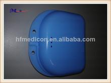 Fabricación precio competitivo y alta calidad de los suministros dentales dentadura postiza de la caja de plástico hm-dbp08