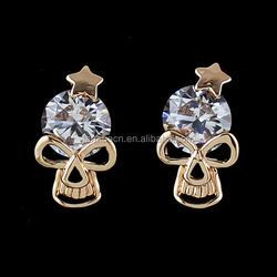 Zinc Alloy Trendy New Punk Skull Earrings Rose Gold and Silver Color Designer Earrings for Women