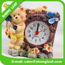 Fashion Clock Alarm Clock Battery Power Antique Wooden Desk Personality Alarm Clock