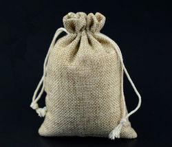 mini foldable jute bag santa sack bag with drawstring