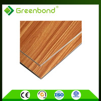 GREENBOND Superior impact resistance wood finish aluminium composite panel
