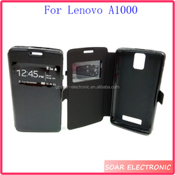Case for Lenovo A1000,Luxury magnetic pu leather case cover for Lenovo A1000