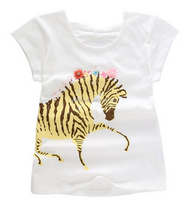 Printed Lovely Children T-shirt, Girl's T-shirt, Children Garment