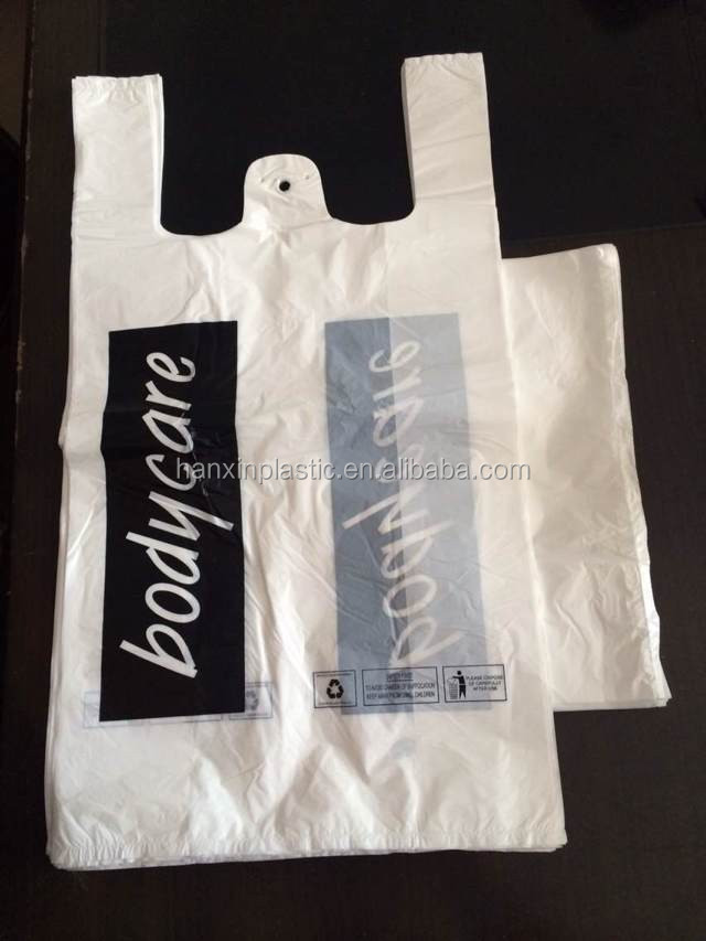 china manufacture custom printed plastic t shirt bags for