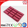 High Quality FDA LFGB Approval 12 Cavity Retangular Silicone Molds for Soap Mold, Chocolate, Candy