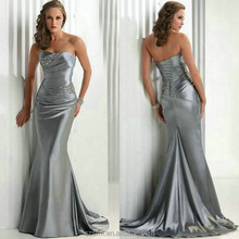 2015 Formal Long prom gowns Silver Beaded Mermaid Sweetheart Neck Evening gowns