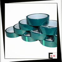 ISO9001&14001 Certified Green High Temp Polyester Tape For Powder Coating
