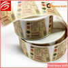 Custom UV Offset Printing craft paper adhesive label roll for glass bottle with barcode