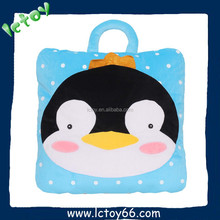 Best selling high quality korean blanket with animal cusion