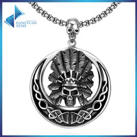 black metal jewellery cheap mens skull stainless steel necklace for men