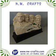Polyresin mount Rushmore sculpture home decoration business gift crafts