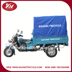 Wholesale Alibaba hot selling China air-cooled motorized motor tricycle with canvas