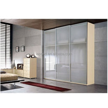 N195 China Glass Sliding Door Wardrobe Manufacturer, Tempered Painted Glass Wardrobe Sliding Door Wholesale