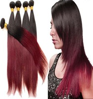 Hot New Products 1b 99j Milky Way Silky Straight Human Hair Weft