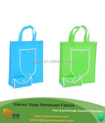 Eco Non Woven Foldable Pocket Shopper Bag Multicolor foldable travel bag