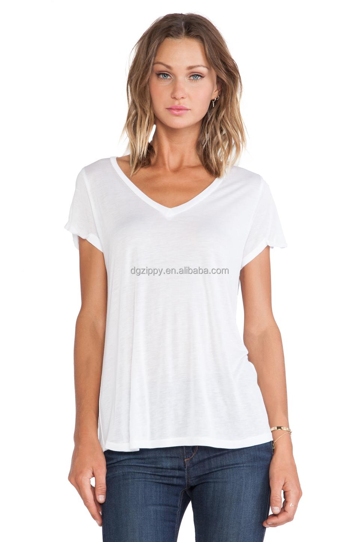 High Neckline Shirts Women T-shirt v Neckline