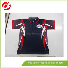 Custom made new design cricket jerseys with pattern/cricket clothes